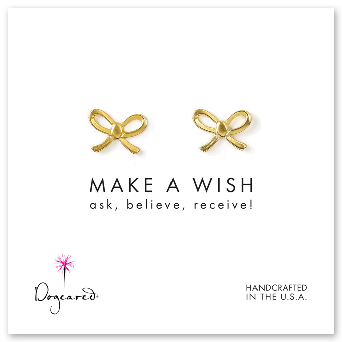 make a wish bow earrings